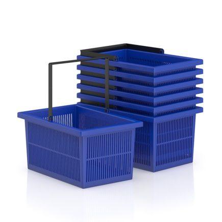 shopping basket free 3d model