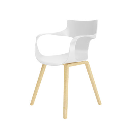 3D Office White Chair