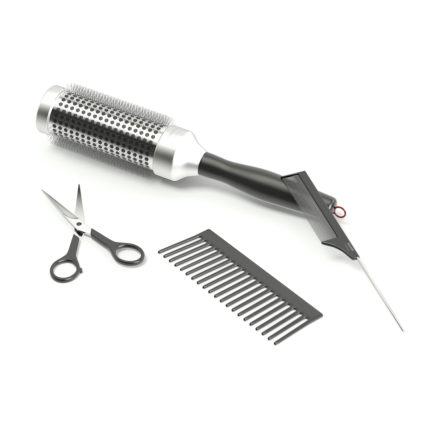 Hairdressing Tools 3D Model