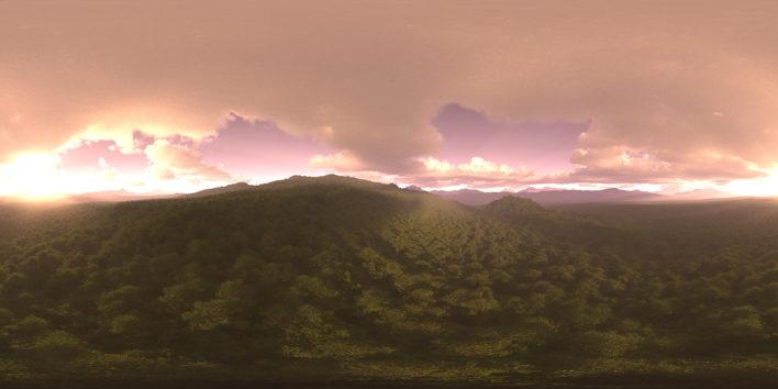 evening forest hdri