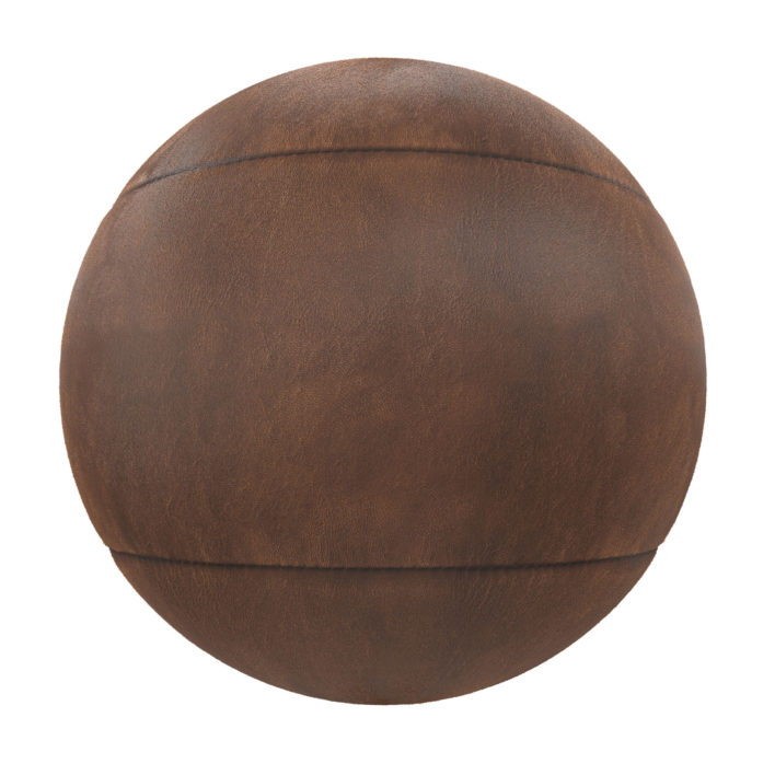 Stitched Brown Leather Free PBR Texture